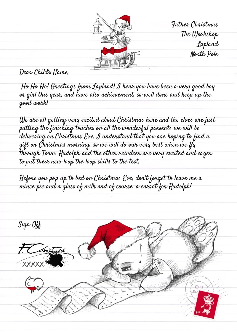 Personalised Letter From Santa - Teddy Bear | Funky Pigeon