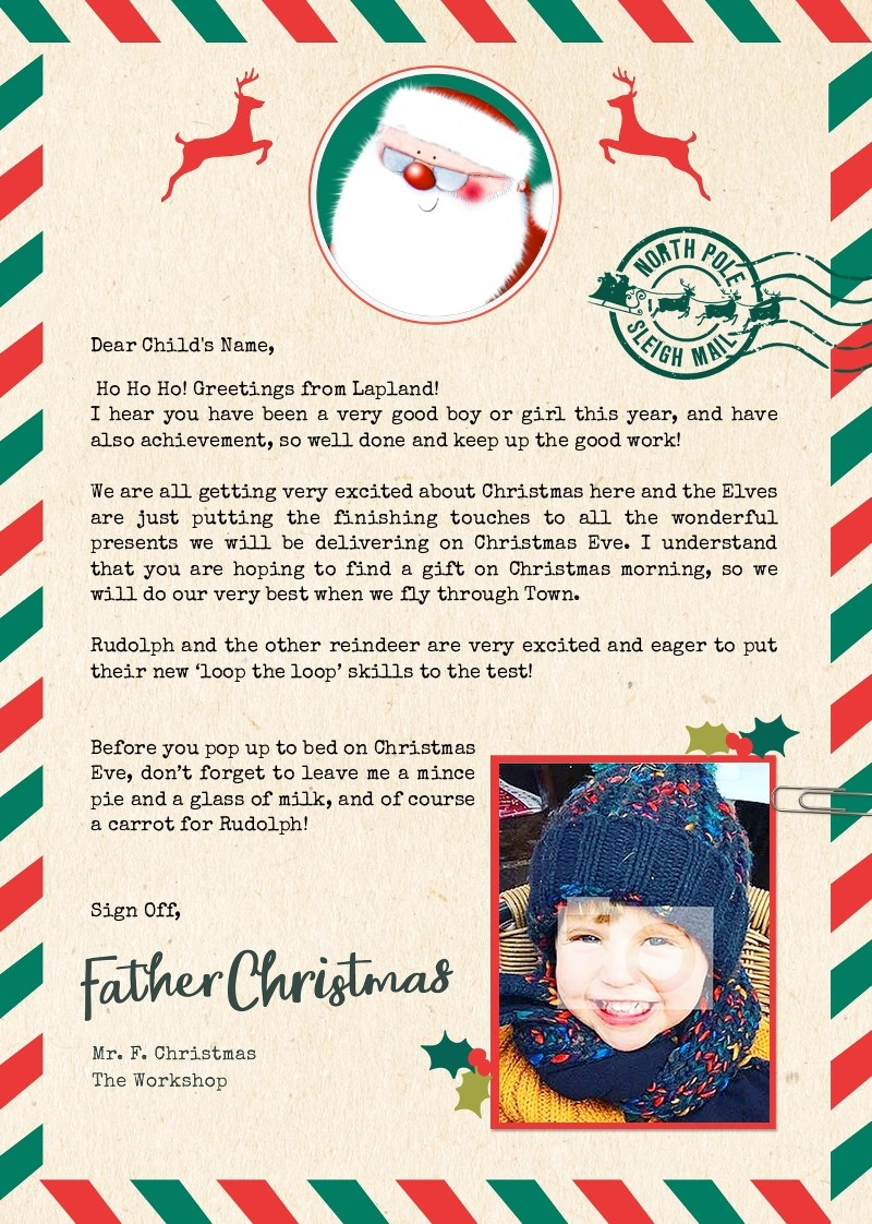 Photo Upload Letter From Santa - Sleigh Mail | Funky Pigeon