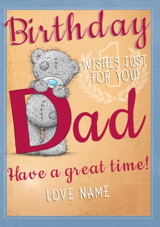 Me to you birthday wishes dad birthday card funky pigeon me to you birthday wishes dad birthday card m4hsunfo