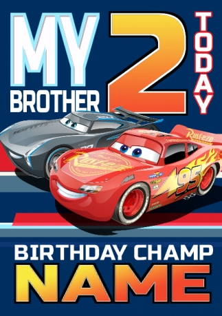 Disney Cars Birthday Cards Official Funky Pigeon