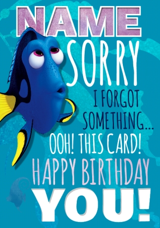 Finding Dory Birthday Cards Official Funky Pigeon