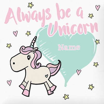 Always Be A Unicorn Personalised Cushion