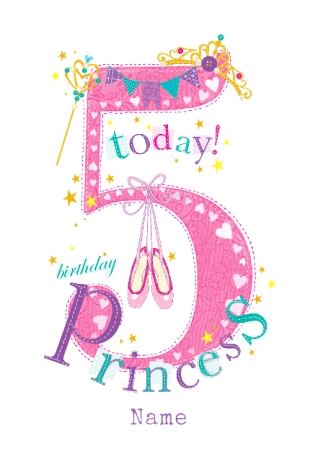 Princess Birthday Cards Funky Pigeon