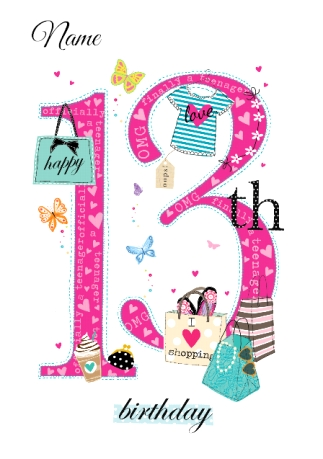 Abacus thirteen year old birthday card shopping queen 13th abacus thirteen year old birthday card shopping queen 13th birthday bookmarktalkfo Image collections