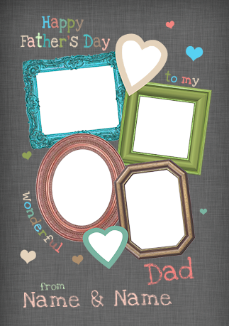 Pretty Patterns - Father\'s Day card Multi Frames Photo Upload ...