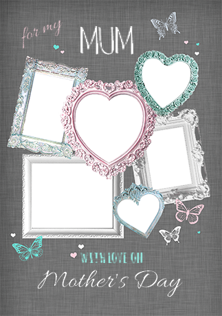 Mother\'s Day Photo Upload Frames Card | Funky Pigeon