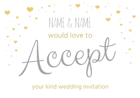 acceptance to wedding invitation