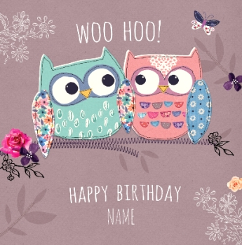 hoo princess owl birthday cards bird bird cages funky pigeon