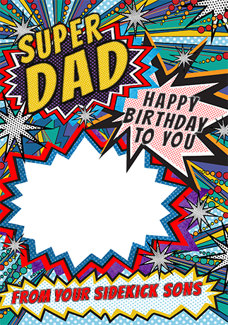 Super Dad Photo Birthday Card Funky Pigeon