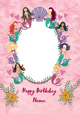Mermaid Photo Frame Birthday Card Funky Pigeon