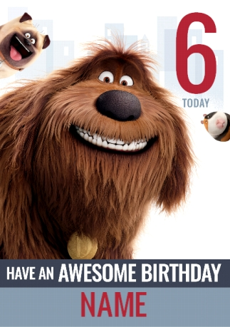 The Secret Life Of Pets Birthday Card Duke And Mel Funky Pigeon