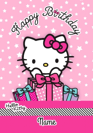 Hello kitty birthday card funky pigeon hello kitty birthday card bookmarktalkfo Image collections