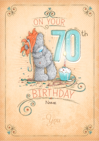 70th birthday cards personalised unique funky pigeon me to you 70th birthday cupcake card bookmarktalkfo Choice Image