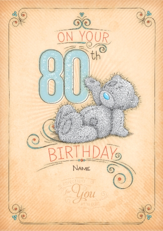 Me to you 80th birthday card funky pigeon me to you 80th birthday card bookmarktalkfo Image collections