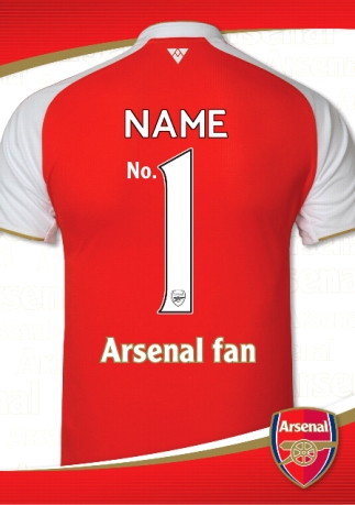 pretty nice d335b af94b Arsenal - No 1 Arsenal Fan Shirt