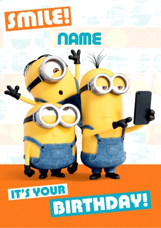 Send minions birthday cards for kids funky pigeon minions photo bombed selfie filmwisefo Gallery