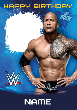 The rock birthday card wwe funky pigeon the rock birthday card wwe bookmarktalkfo Image collections