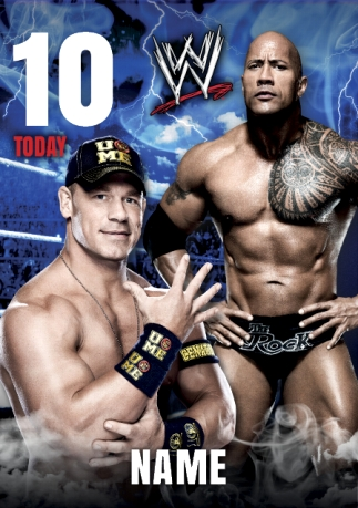Wwe 10 Today Name Card Funky Pigeon