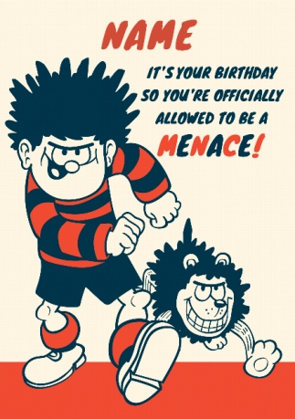 Dennis The Menace Birthday Card Officially A Menace Funky Pigeon