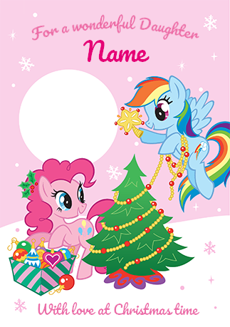 My Little Pony Daughter Photo Christmas Card