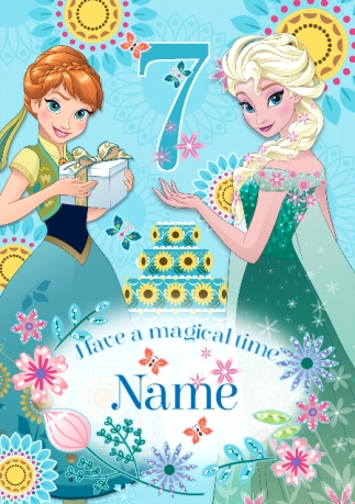 Disneys Frozen Birthday Card Magical 7th Birthday Funky Pigeon