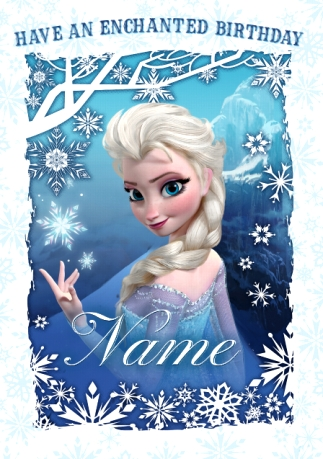 Elsa Enchanted Birthday Card Disney Frozen Funky Pigeon