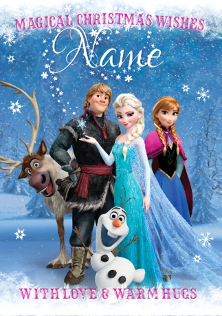 Disney Frozen Christmas Card - Magical Wishes | Funky Pigeon