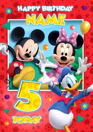 Mickey Mouse Cards Funky Pigeon