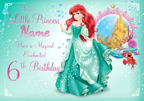 Magical Ariel Birthday Card Disney Princess Funky Pigeon