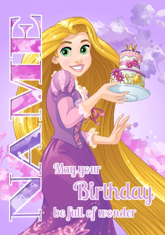 Rapunzel birthday card funky pigeon rapunzel birthday card bookmarktalkfo Image collections