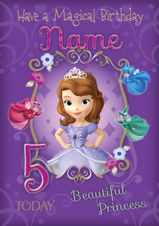 Disney Cards Sofia The First Funky Pigeon