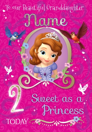 Sofia The First Birthday Cards Funky Pigeon