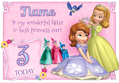 Sofia The First Sister Best Princess Funky Pigeon