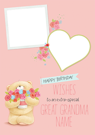 Great Grandma Photo Forever Friends Birthday Card