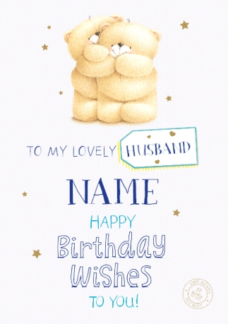 Lovely Husband Forever Friends Birthday Card