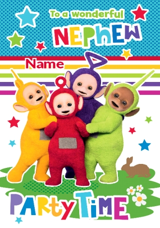 Teletubbies Birthday Card 1 Today Funky Pigeon
