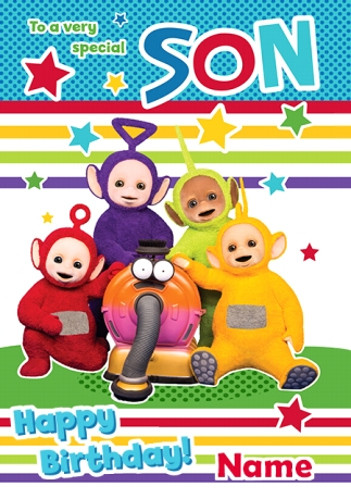 Teletubbies Birthday Card Special Son Funky Pigeon