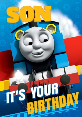 Thomas The Tank Engine Birthday Card Son It S Your