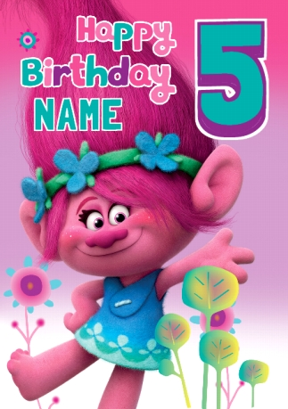 Trolls 5th birthday card funky pigeon bookmarktalkfo Image collections