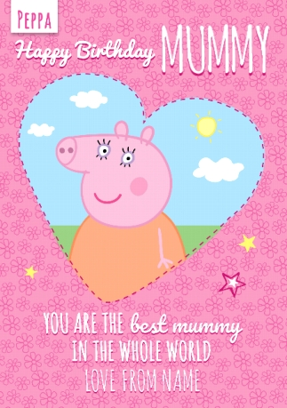 Peppa Pig Birthday Card Best Mummy Funky Pigeon