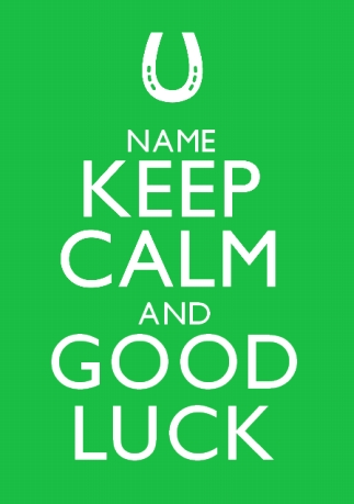 WWWFUNKYPIGEONCOM PERSONALISED Card Keep Calm Good Luck