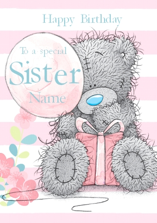 Birthday cards for sister funky pigeon me to you birthday sister balloon card bookmarktalkfo Images