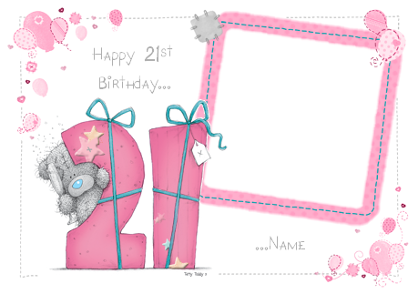 Me to You - 21st Birthday Girl Photo | Funky Pigeon