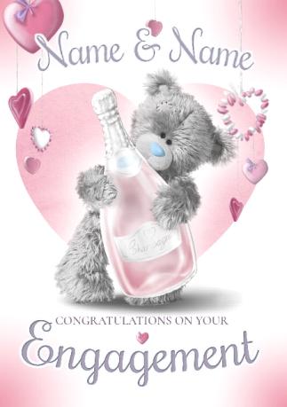 Engagement congratulations cards funky pigeon congratulations on your engagement personalised card me to you m4hsunfo