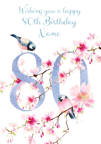 80th birthday cards personalised unique funky pigeon 80th birthday card floral adornment m4hsunfo