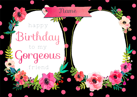 Neon blush birthday card gorgeous friend photo upload funky pigeon neon blush birthday card gorgeous friend photo upload bookmarktalkfo Choice Image