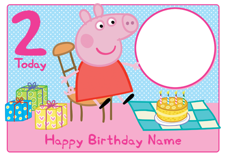 Marvelous Peppa Pig Birthday Cake Photo Funky Pigeon Funny Birthday Cards Online Overcheapnameinfo