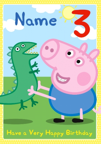 Send unique dinosaur birthday cards funky pigeon peppa pig dinosaurs filmwisefo Gallery