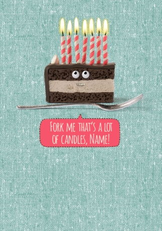 Shut Your Cake Hole Birthday Card Fork Me Funky Pigeon