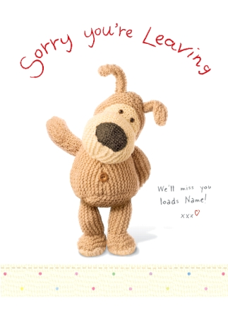 Boofle - Sorry You\'re Leaving | Funky Pigeon